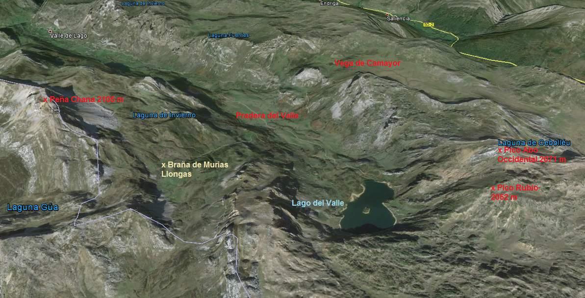 Mapa del Valle del Lago