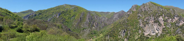 Valle de Aguino desde el mirador de Aguino