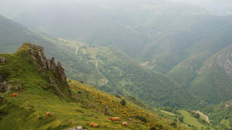Valle del río Morteras desde peña del Home