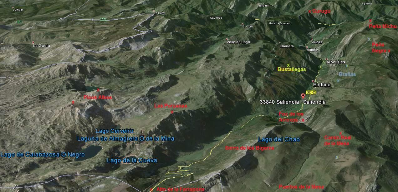 Mapa del valle de Saliencia